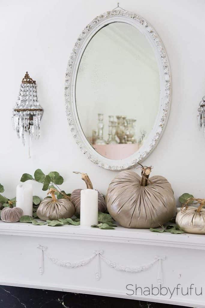 shabbyfufu fall mantel decorating shabby chic