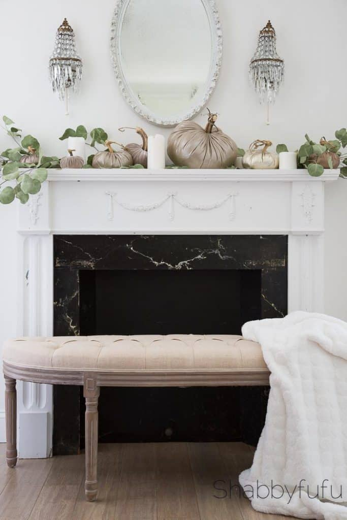 fall decorating in neutral