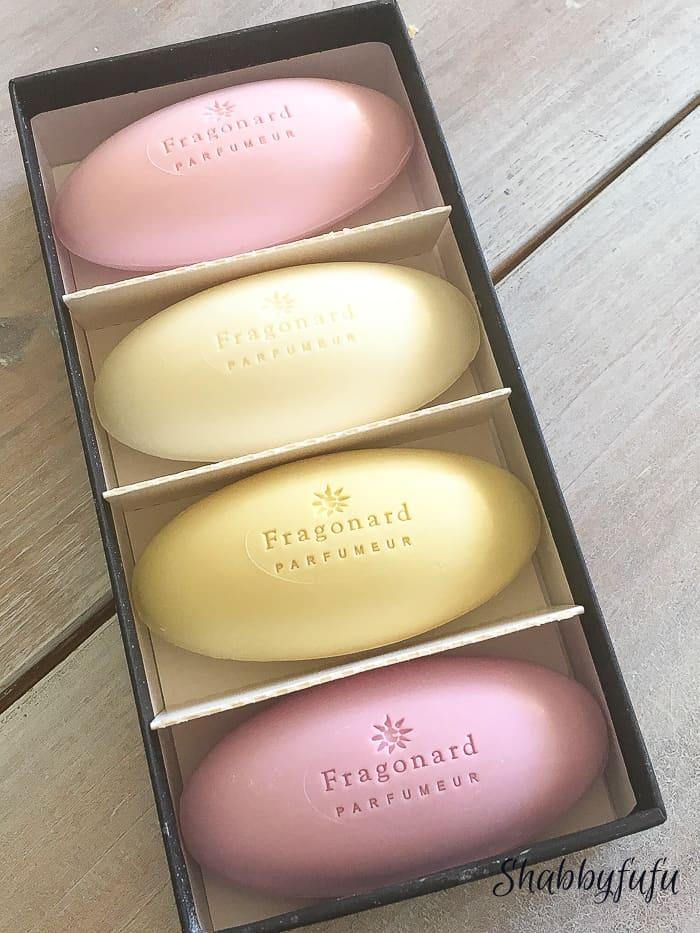 fragonard guest soaps pastels