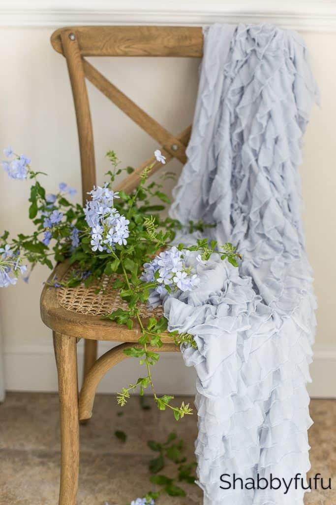shabbyfufu blue ruffle throw etsy shop english country cottage decorating
