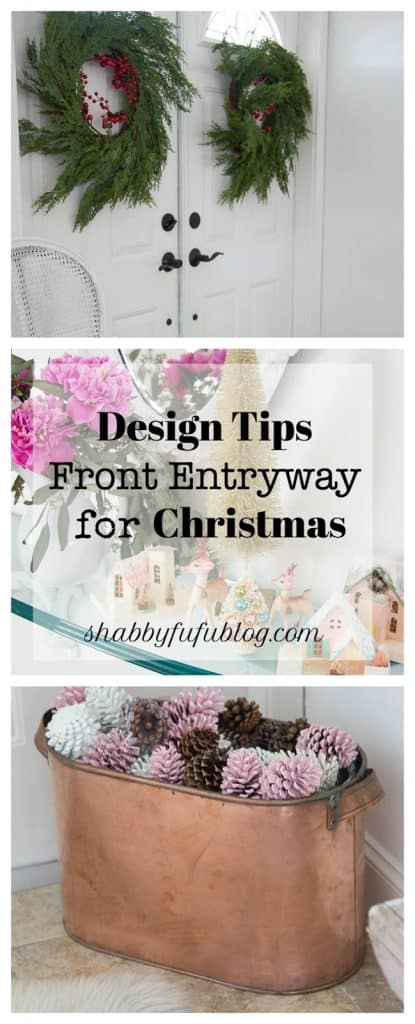 Design Ideas For The Entryway At Christmas-shabbyfufu