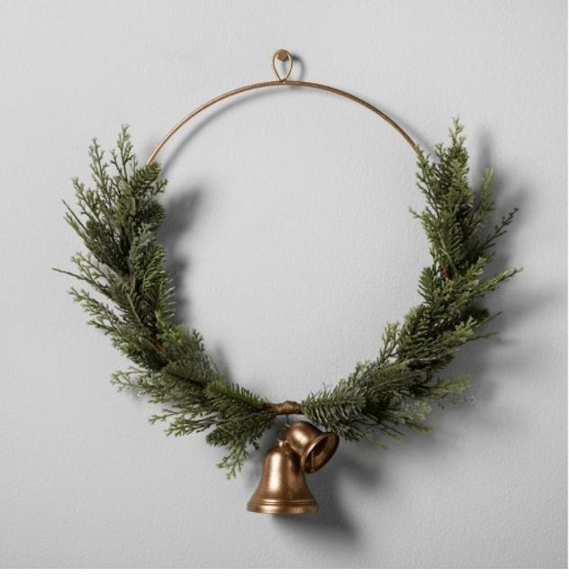 fixer upper farmhouse christmas wreath