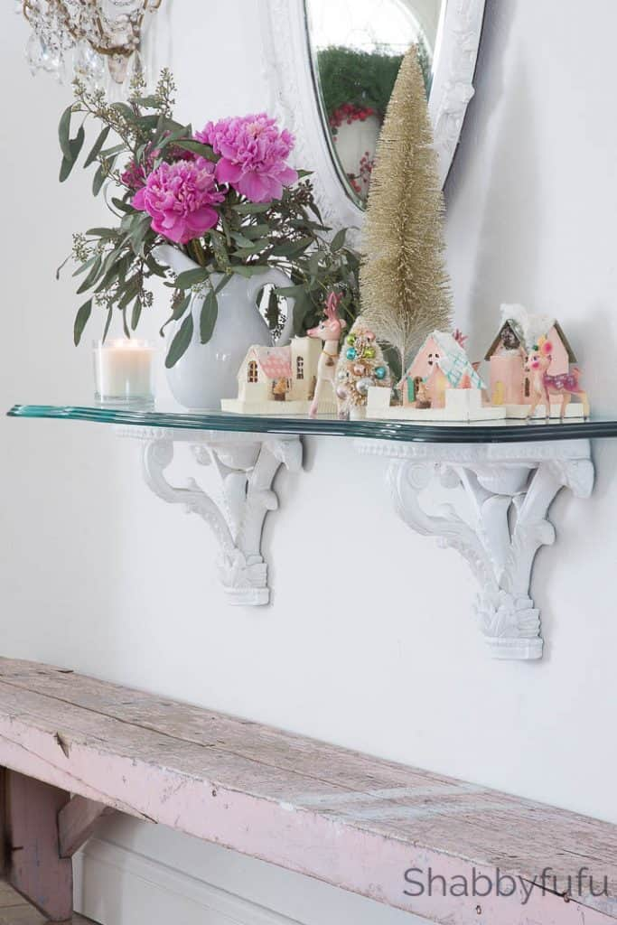 french console table christmas decorations