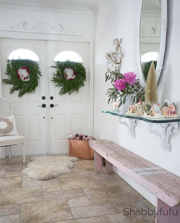 design ideas for the entryway at christmas christmas decorations foyer - Entryway Christmas Decorations