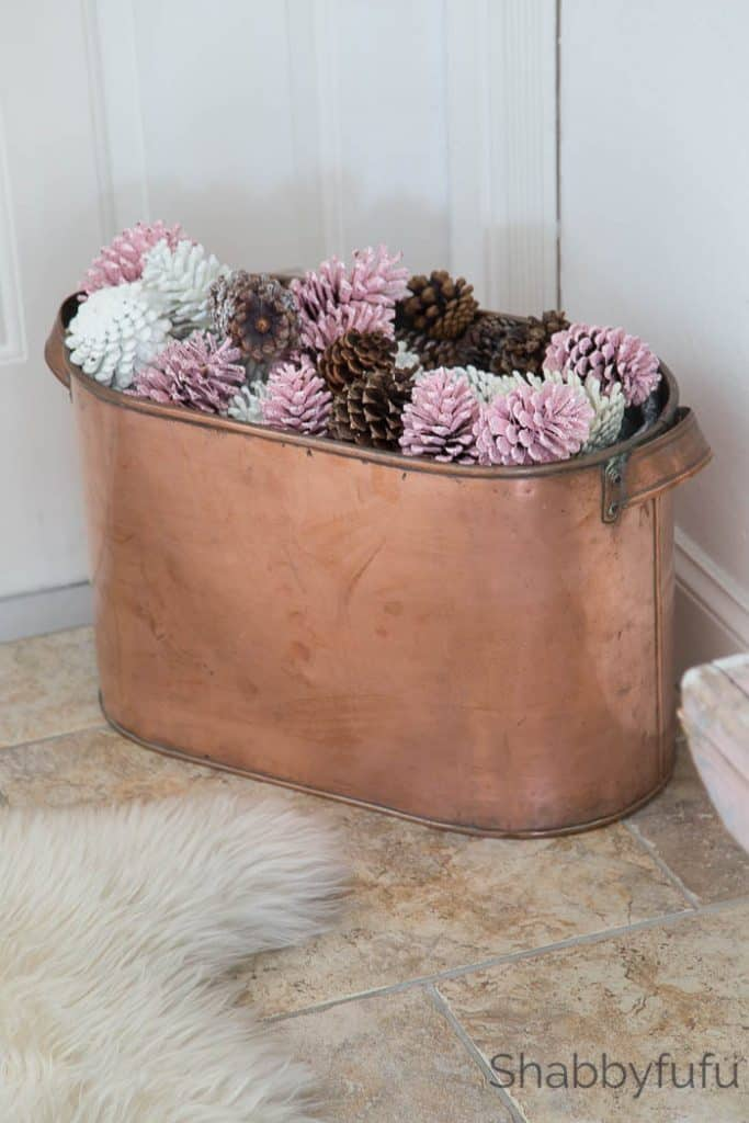 copper bucket christmas