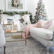 Christmas Home Tour Holiday Housewalk – Blush and Gold