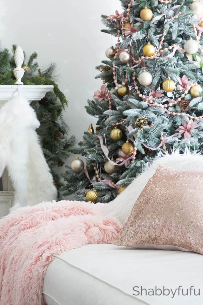 blush pink christmas ideas