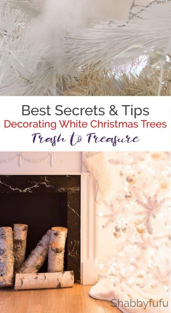 white christmas tree diy ideas