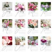 Free Floral Printable Calendar For 2018
