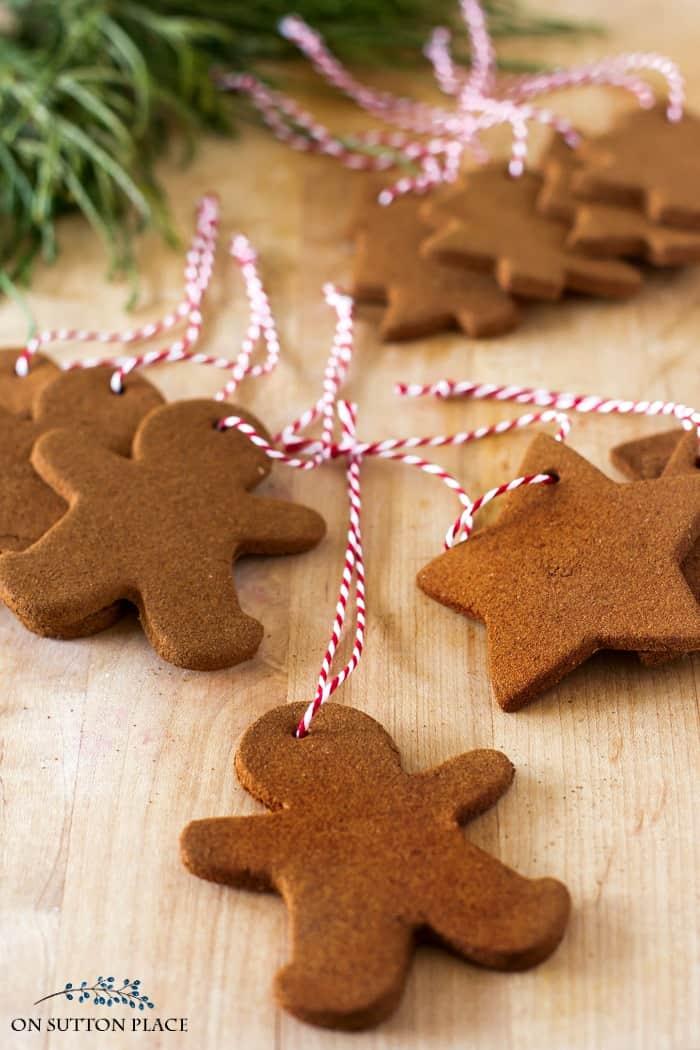 cinnamon christmas ornaments on sutton place