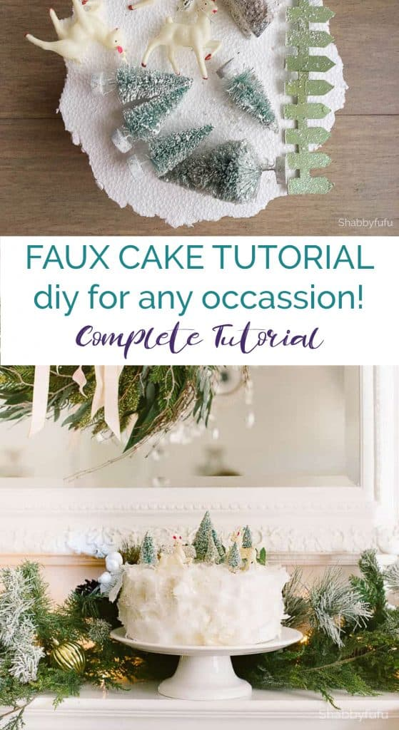 faux cake tutorial diy christmas woodland creatures