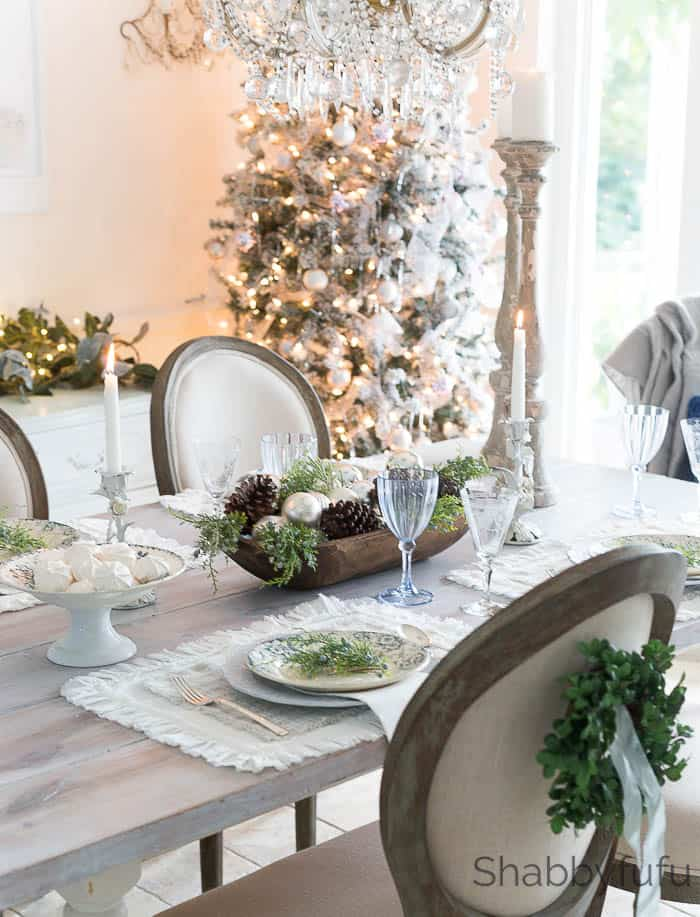 French Country Farmhouse Christmas Style In Blue