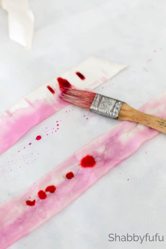 pink ribbon painting diy