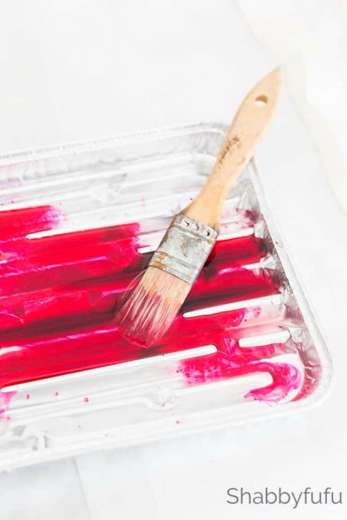 watercolor painting ribbon tray