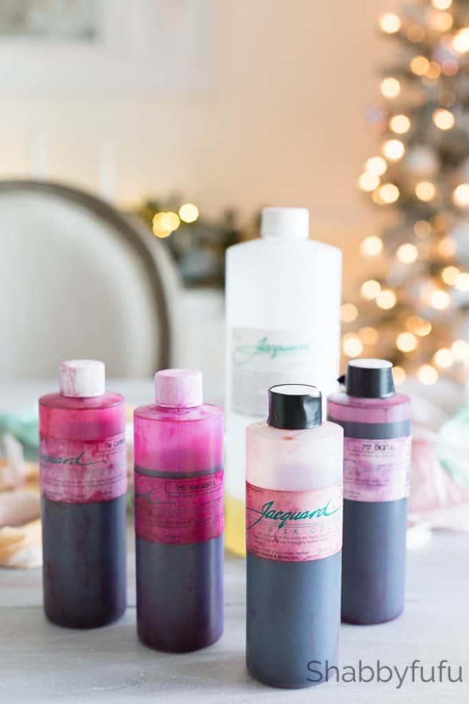 silk jacquard dye bottles