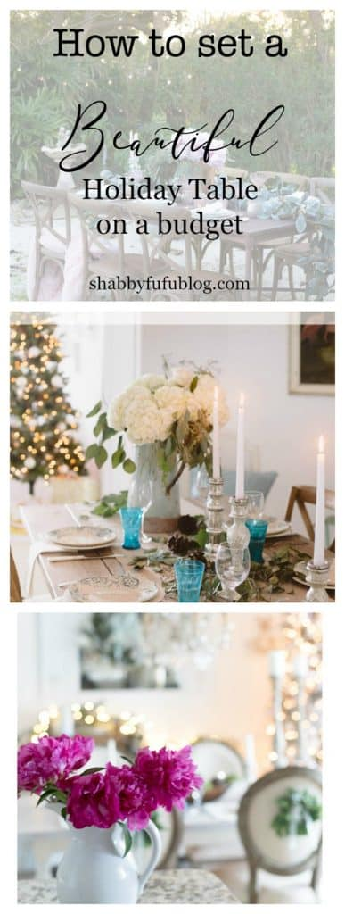 How To Set A Beautiful Holiday Table On A Budget - pinterest