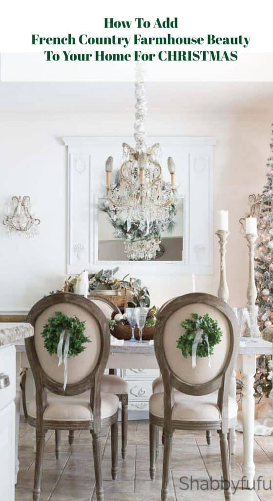 how to add french country charm for Christmas