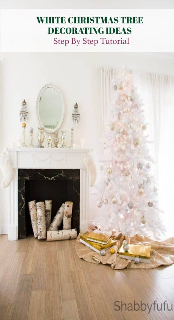 white christmas tree step by step decorating ideas