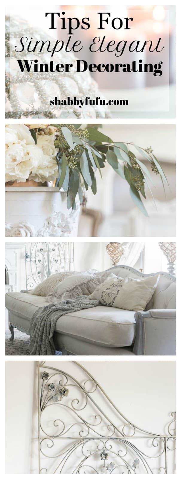 simple elegant winter decorating