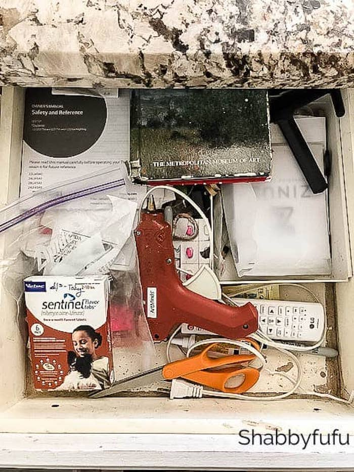 organize the kitchen junk drawer
