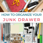 pinterest graphics with text organize your junk drawer tips