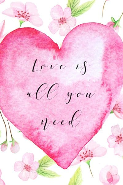 Romantic Valentines Day Free Printables