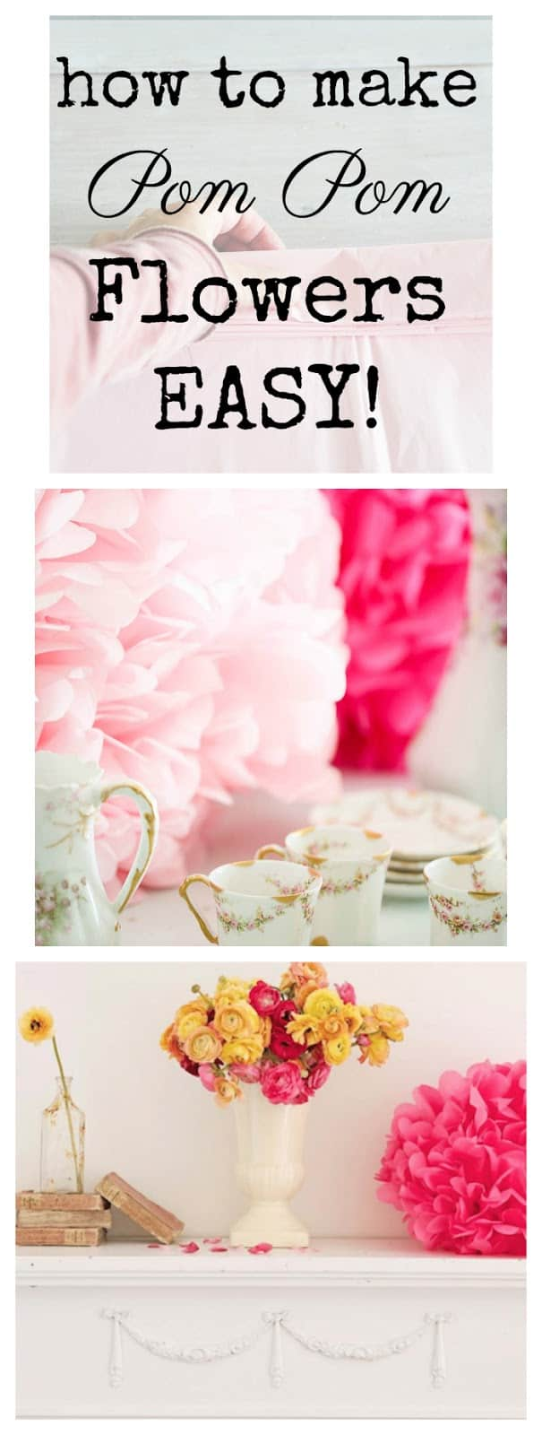 Tissue paper crafts make some pom poms shabbyfufu how to make tissue paper pom poms easy diy shabbyfufu pinterest mightylinksfo