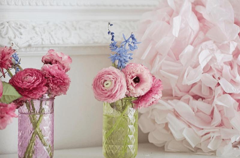 tissue paper crafts spring-mantel-romantic-lifestyle-shabbyfufu