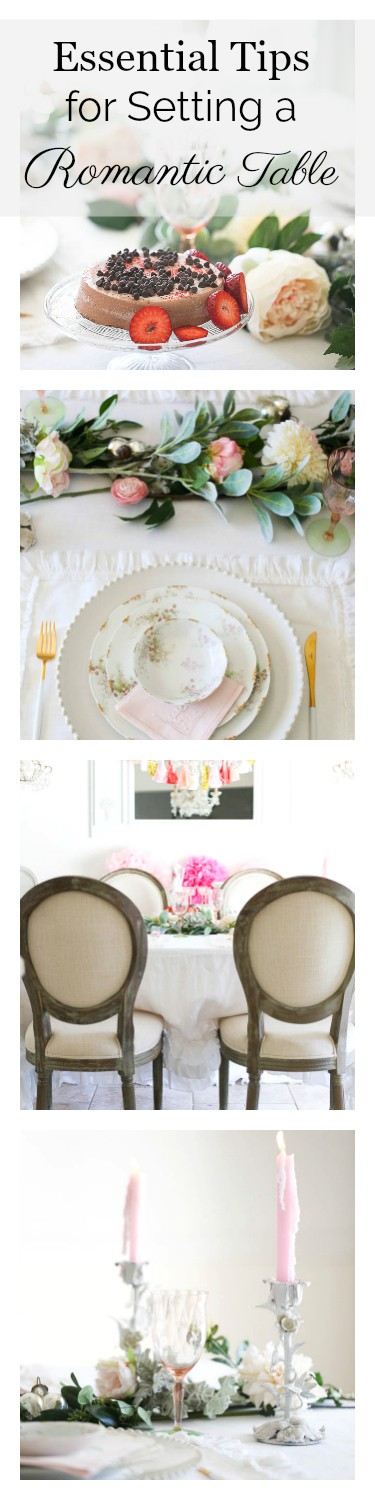 Essential Tips For Setting A Romantic Table For Any Occasion - shabbyfufu - pinterest
