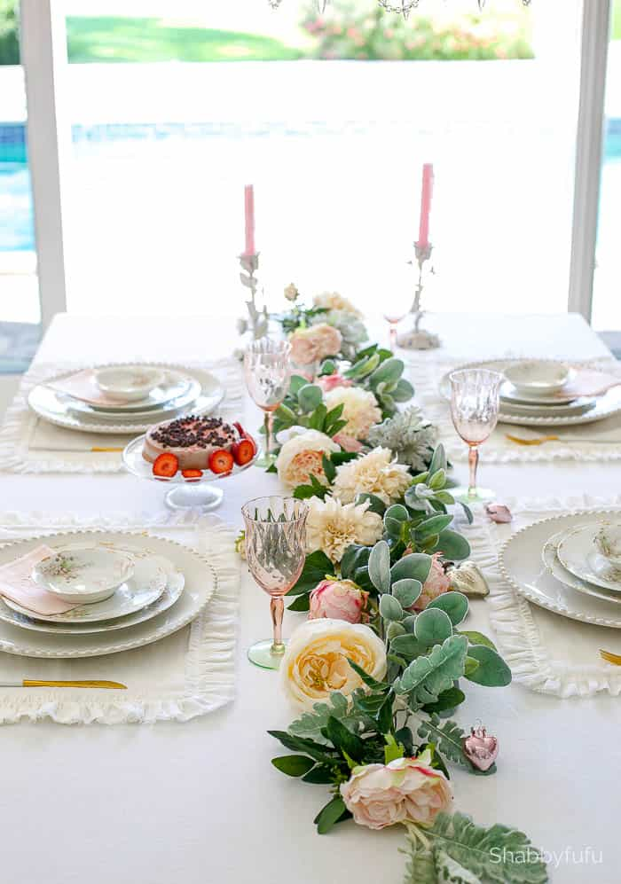 romantic-table-garland-faux-silk-flowers