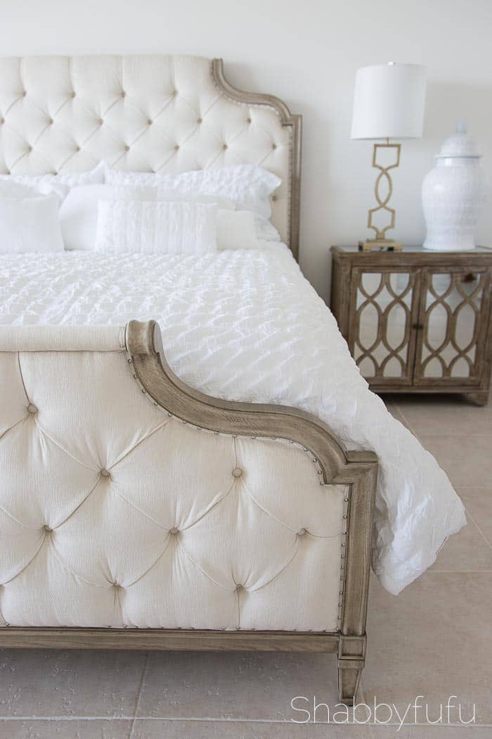 elegant upholstered headboard bed