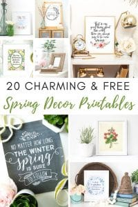 20 Free and Charming Spring Decor Printables