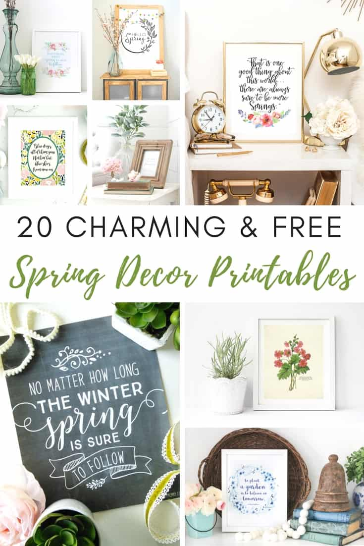 image about Free Printable Decor named 20 Totally free and Attractive Spring Decor Printables -