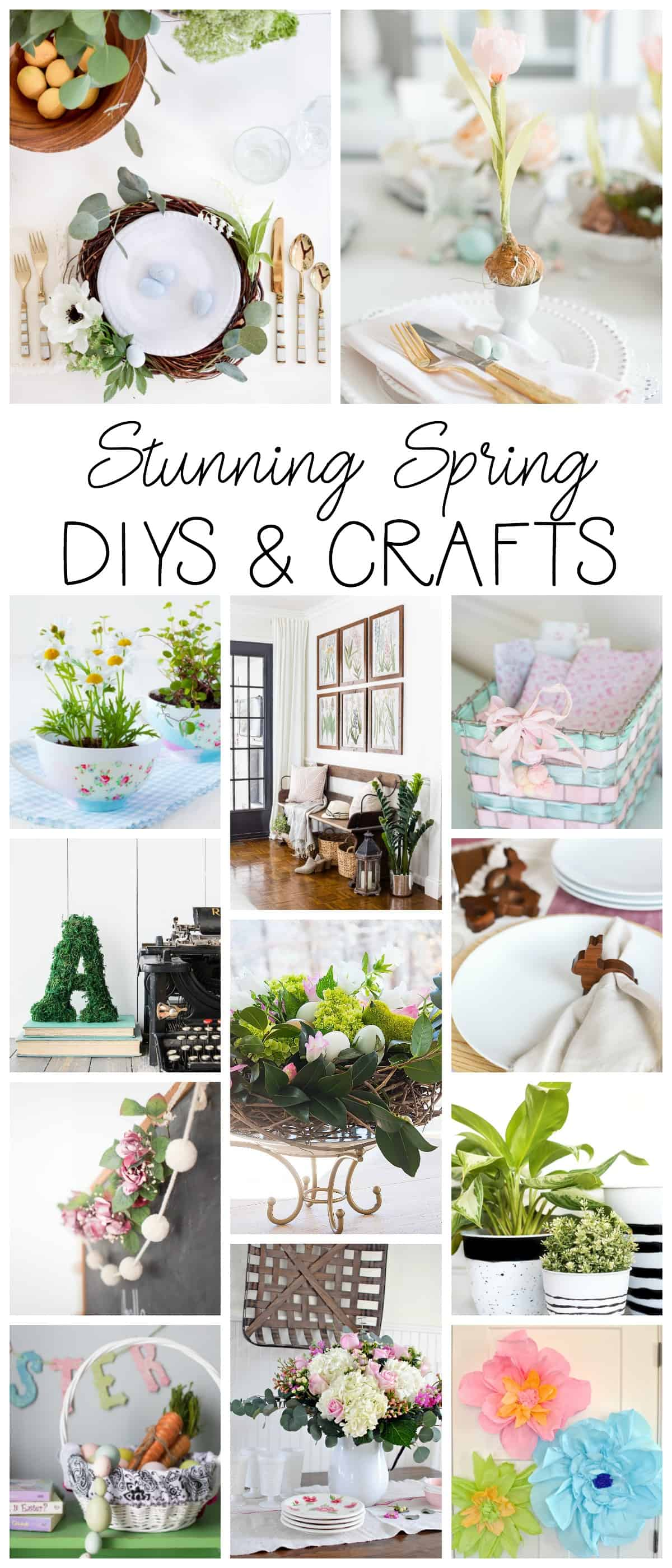 spring crafts diy home decor