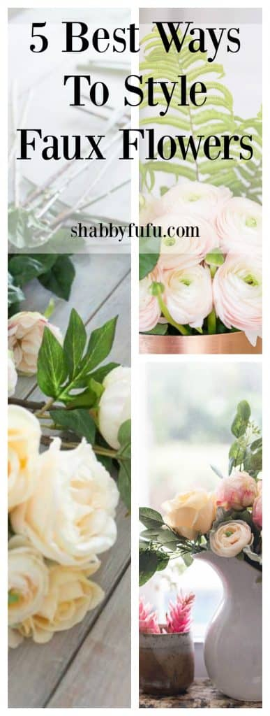 best ways to style faux flowers
