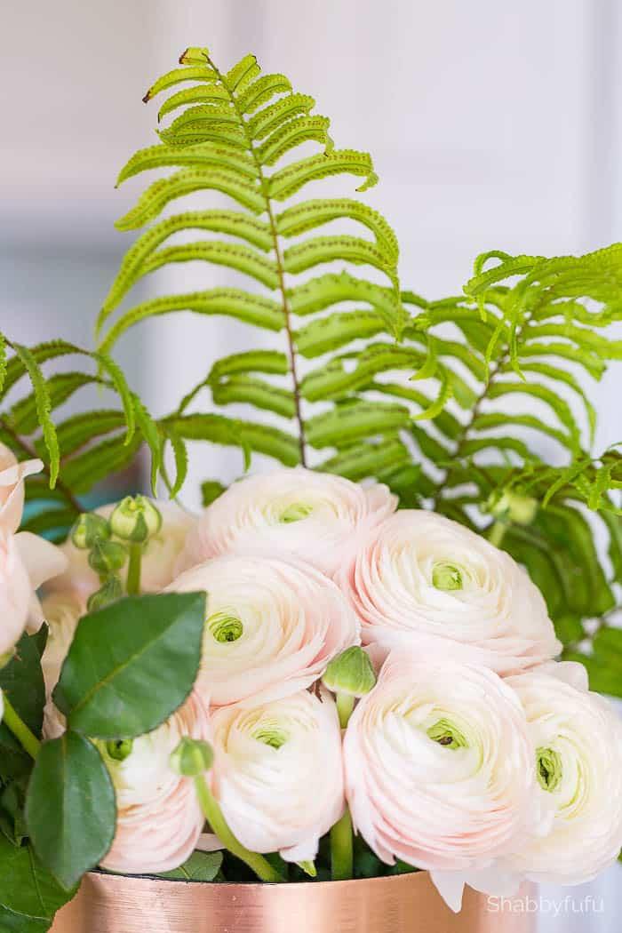 Faux flowers ranunculus