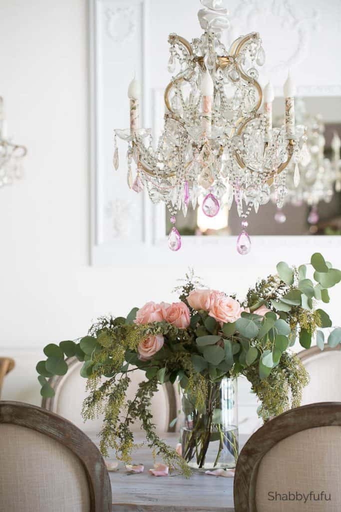 chandelier makeover ideas spring