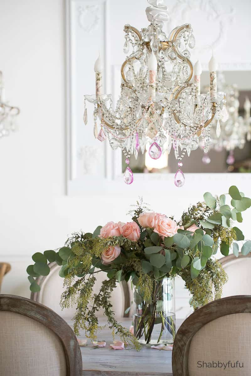 French Country Chandelier Makeover