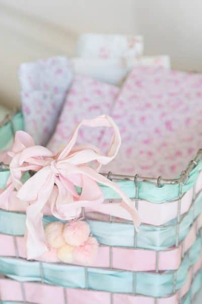 ribbon basket storage