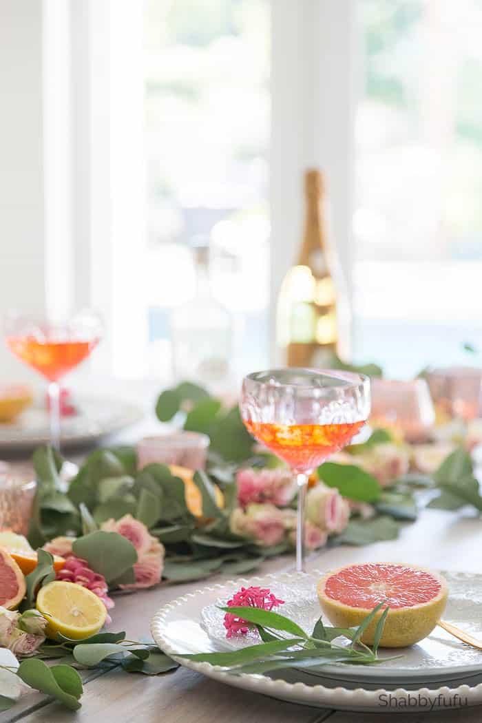 Fruit Table Arrangements with citrus