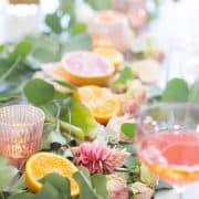 Fruit Table Arrangements {Thrifty Table Decorating}
