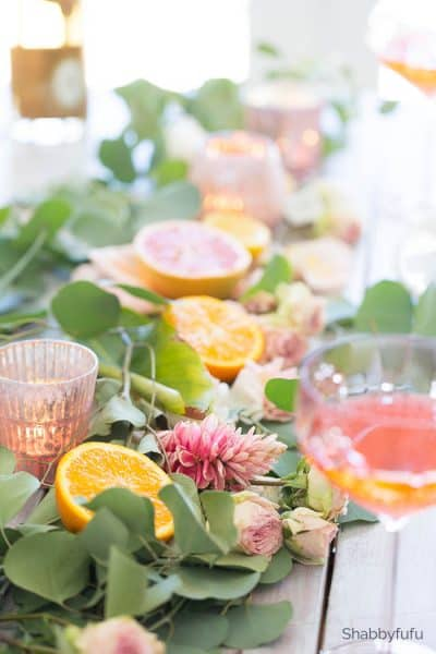 citrus fruit centerpiece entertaining