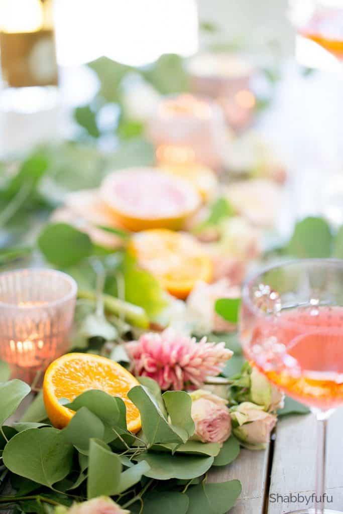 citrus-spring-entertaining Fruit Table Arrangements