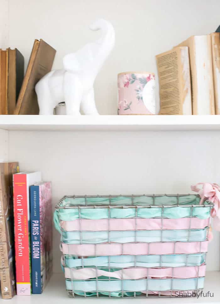 ribbon basket diy home office