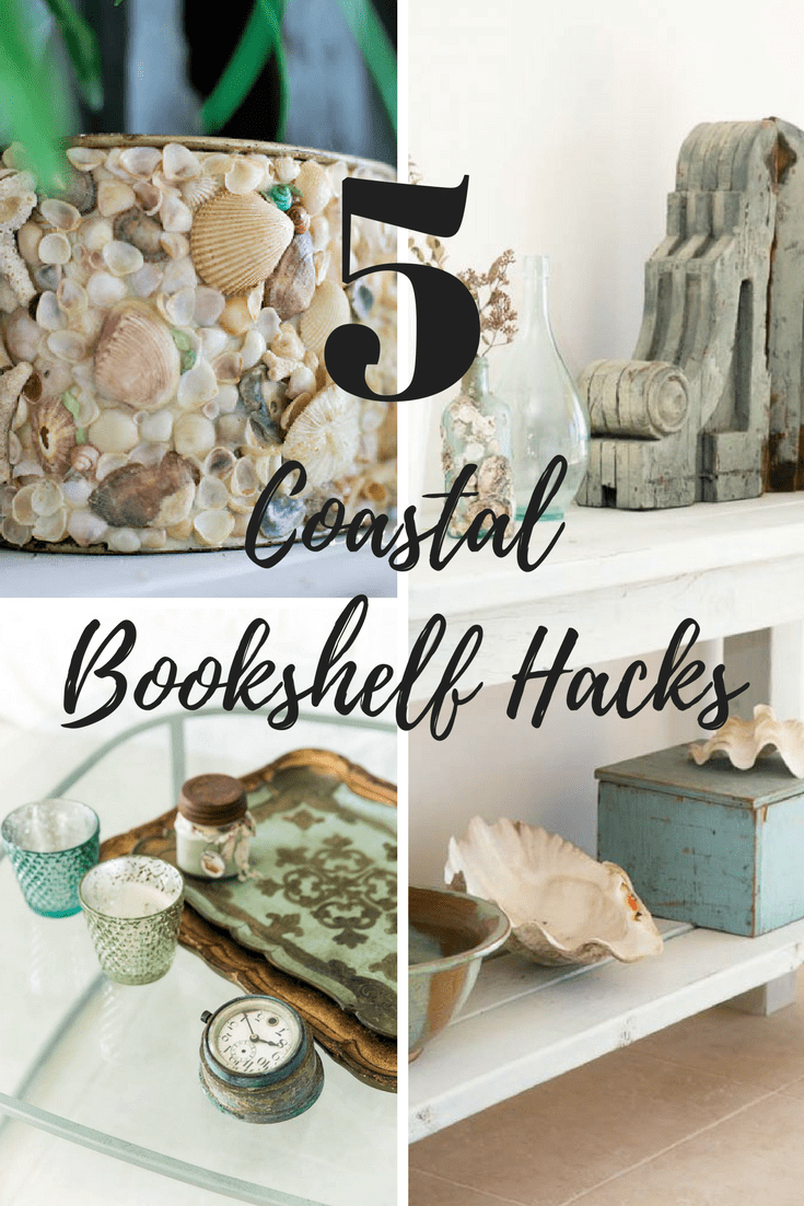 coastal bookshelf hacks