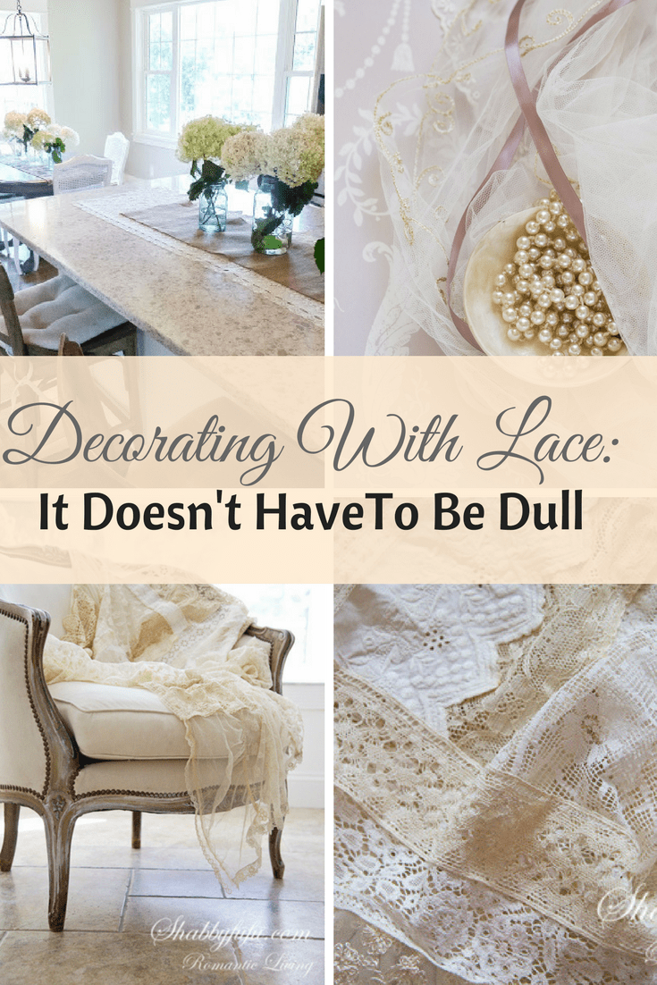 decorating with lace