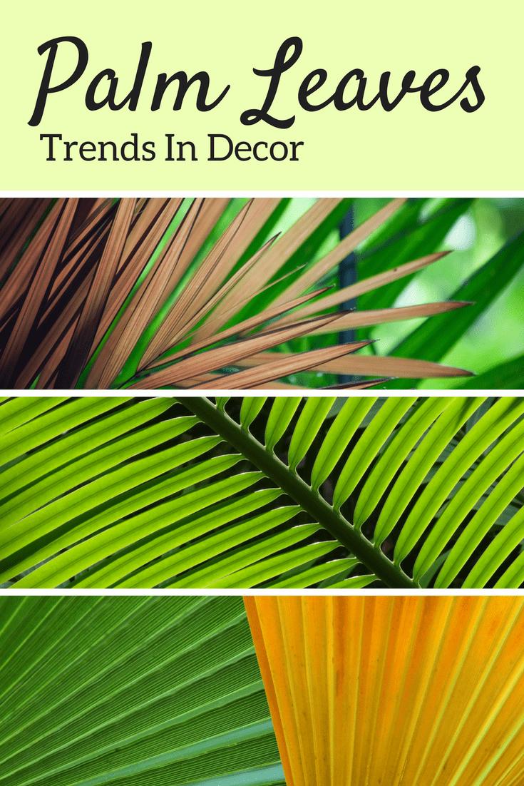 palm leaf trend decor