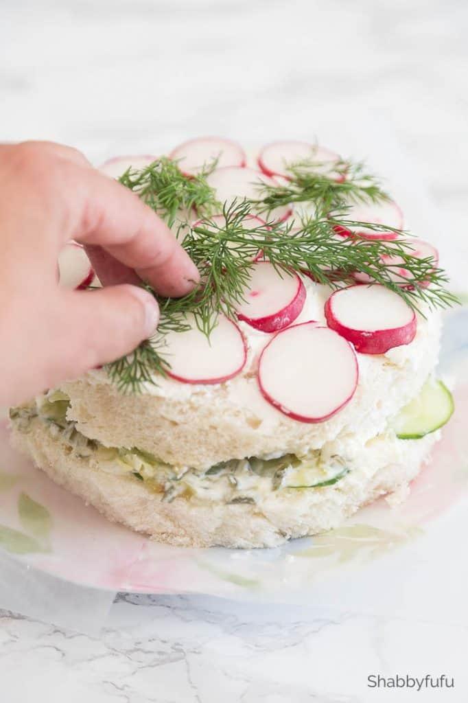 tea sandwich cake