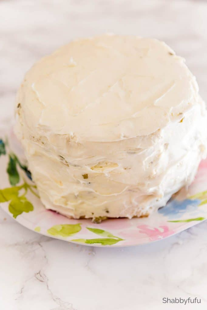 tea sandwich cake cream cheese frosting