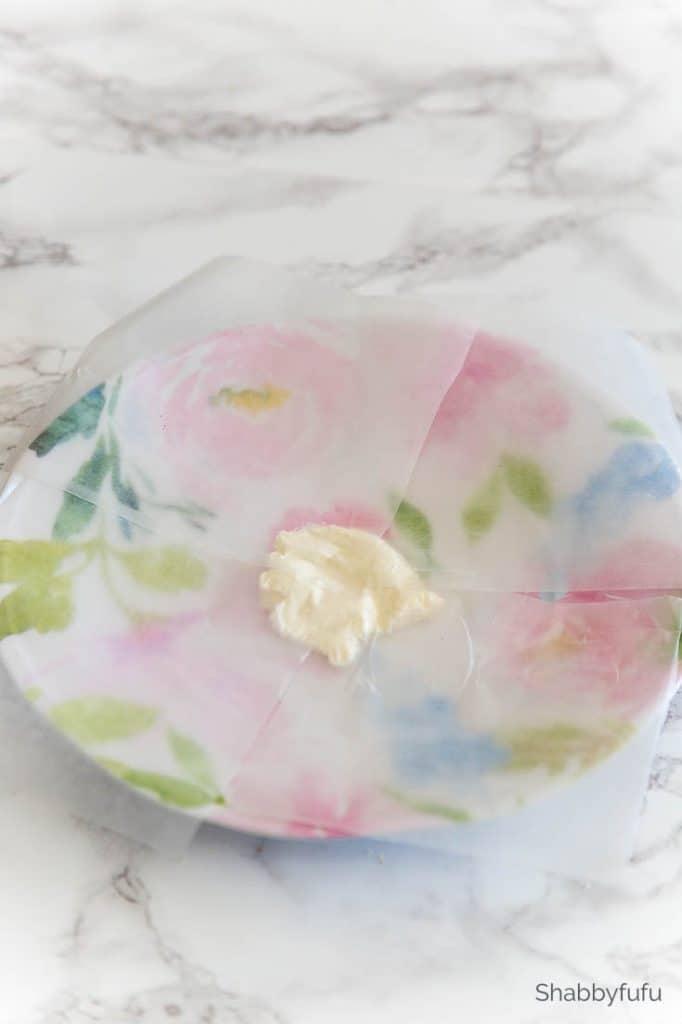 tea sandwich cake plate preparation